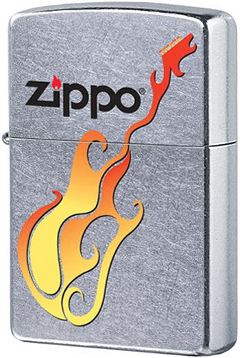24805 Зажигалка Zippo Guitar, Street Chrome