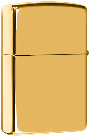 254B Зажигалка Zippo Solid Brass, High Polish