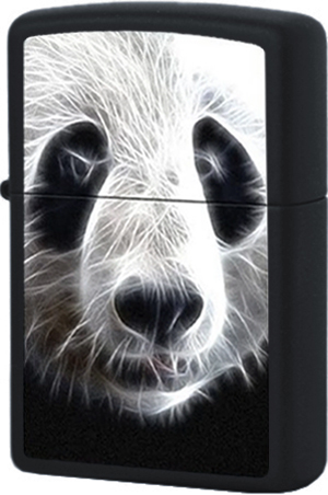 28358 Зажигалка Zippo Panda, Black Matte