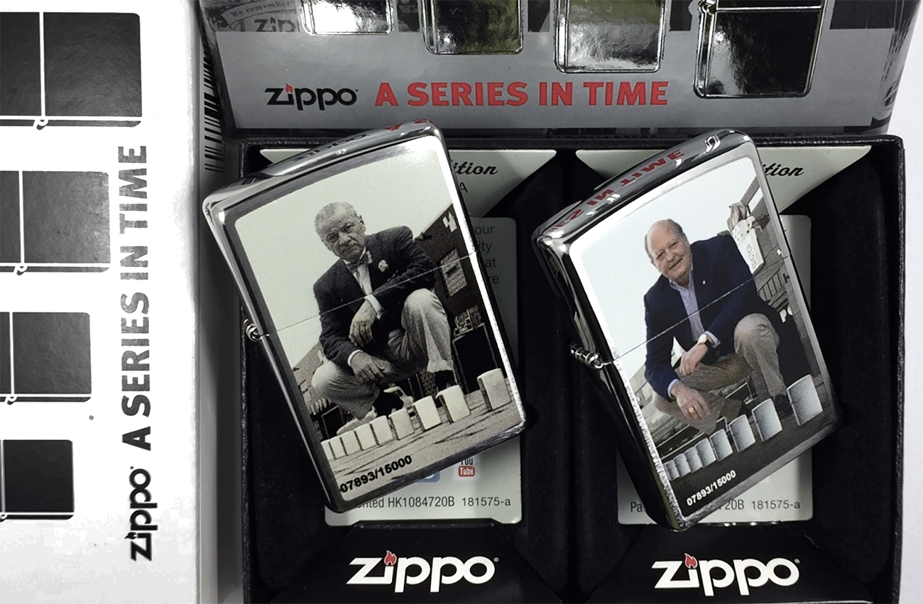 28546 Зажигалка Zippo Limited Set A Series in Time, Brushed Chrome