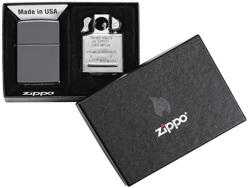 29789 Зажигалка Zippo Lighter & Pipe Insert, Black Ice