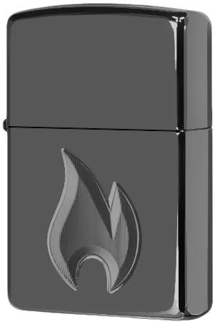 29928 Зажигалка Zippo Flame Design, Armor Black Ice