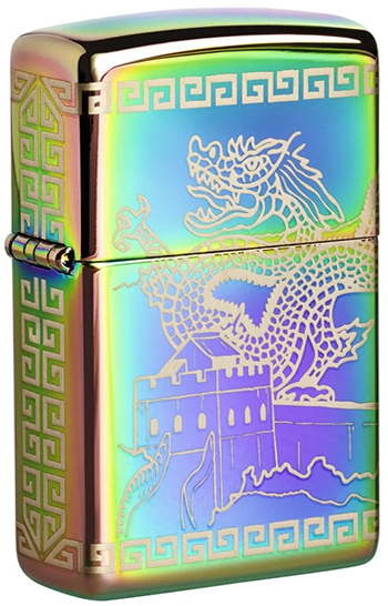 49045 Зажигалка Zippo Great Wall of China, Spectrum High Polish