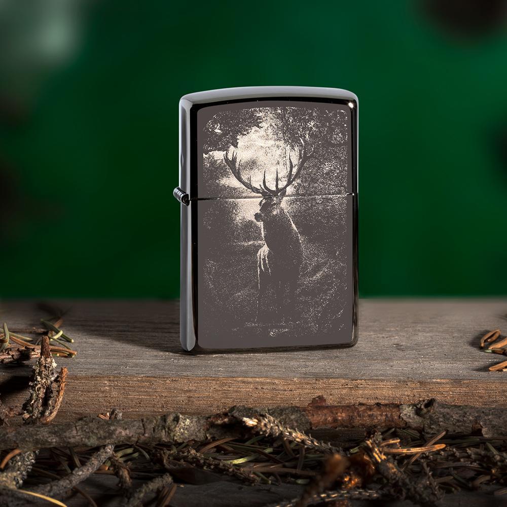 49059 Зажигалка Zippo Deer Design, Black Ice баннер