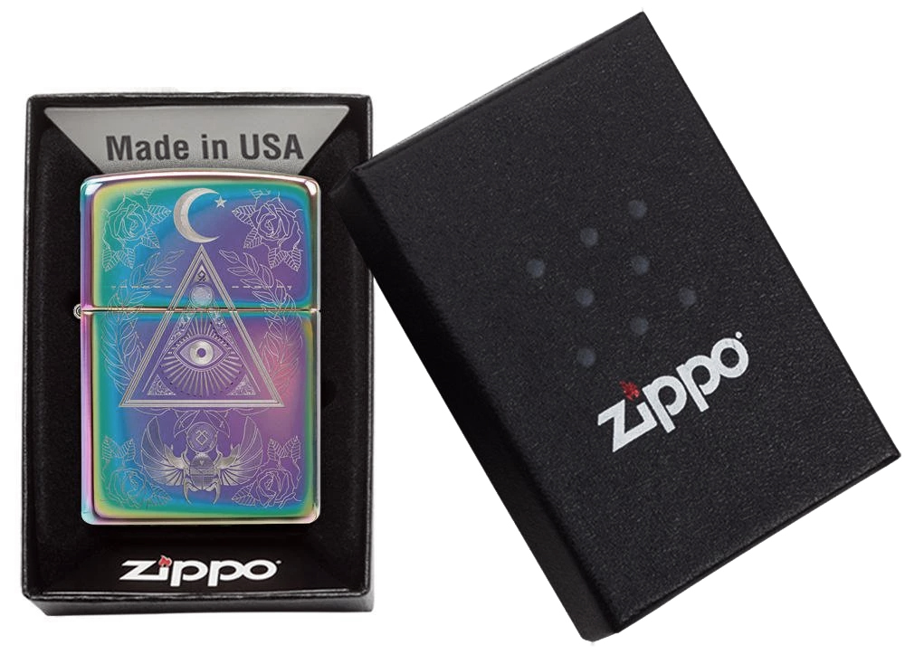 49061 Зажигалка Zippo Eye of Providence, Spectrum High Polish49061 Зажигалка Zippo Eye of Providence, Spectrum High Polish