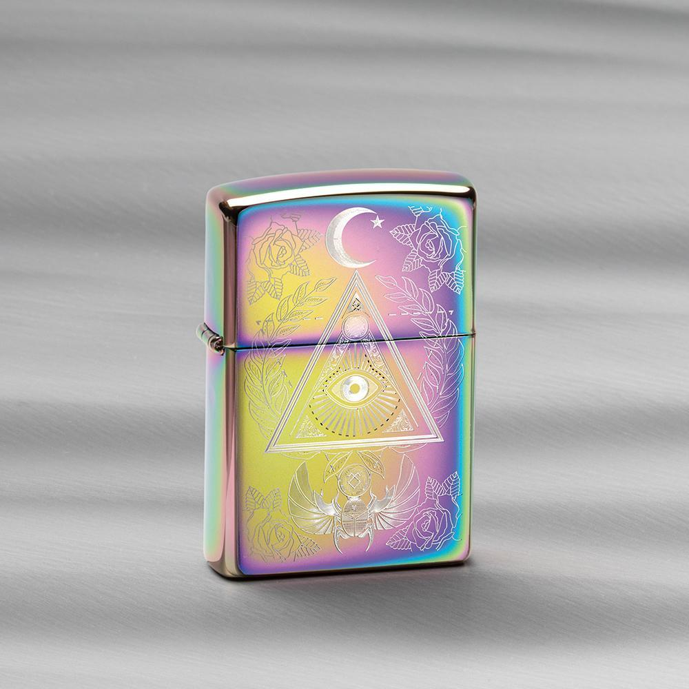 49061 Зажигалка Zippo Eye of Providence, Spectrum High Polish баннер