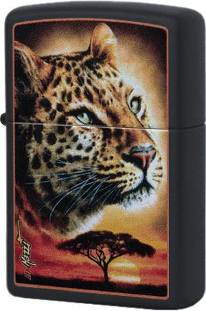 49068 Зажигалка Zippo Mazzi African Leopard, Black Matte49068 Зажигалка Zippo Mazzi African Leopard, Black Matte