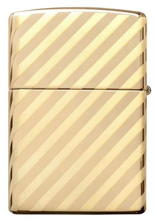 49075 Зажигалка Zippo Vintage Zippo Box Top, High Polish Brass обратная сторона