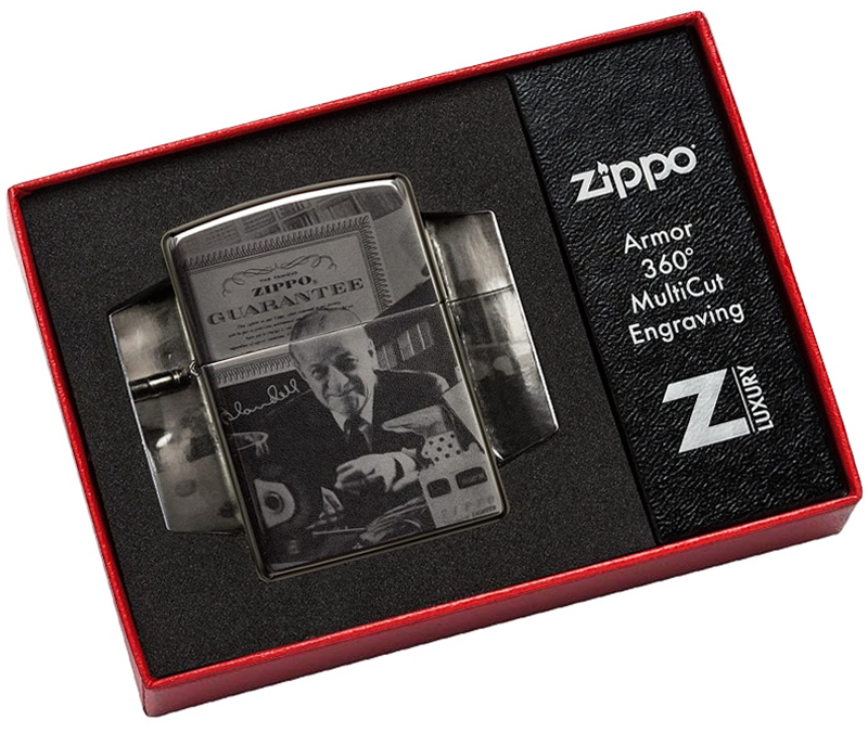 49134 Зажигалка Zippo GGB 125th Birthday Collectible limited edition, Black Ice