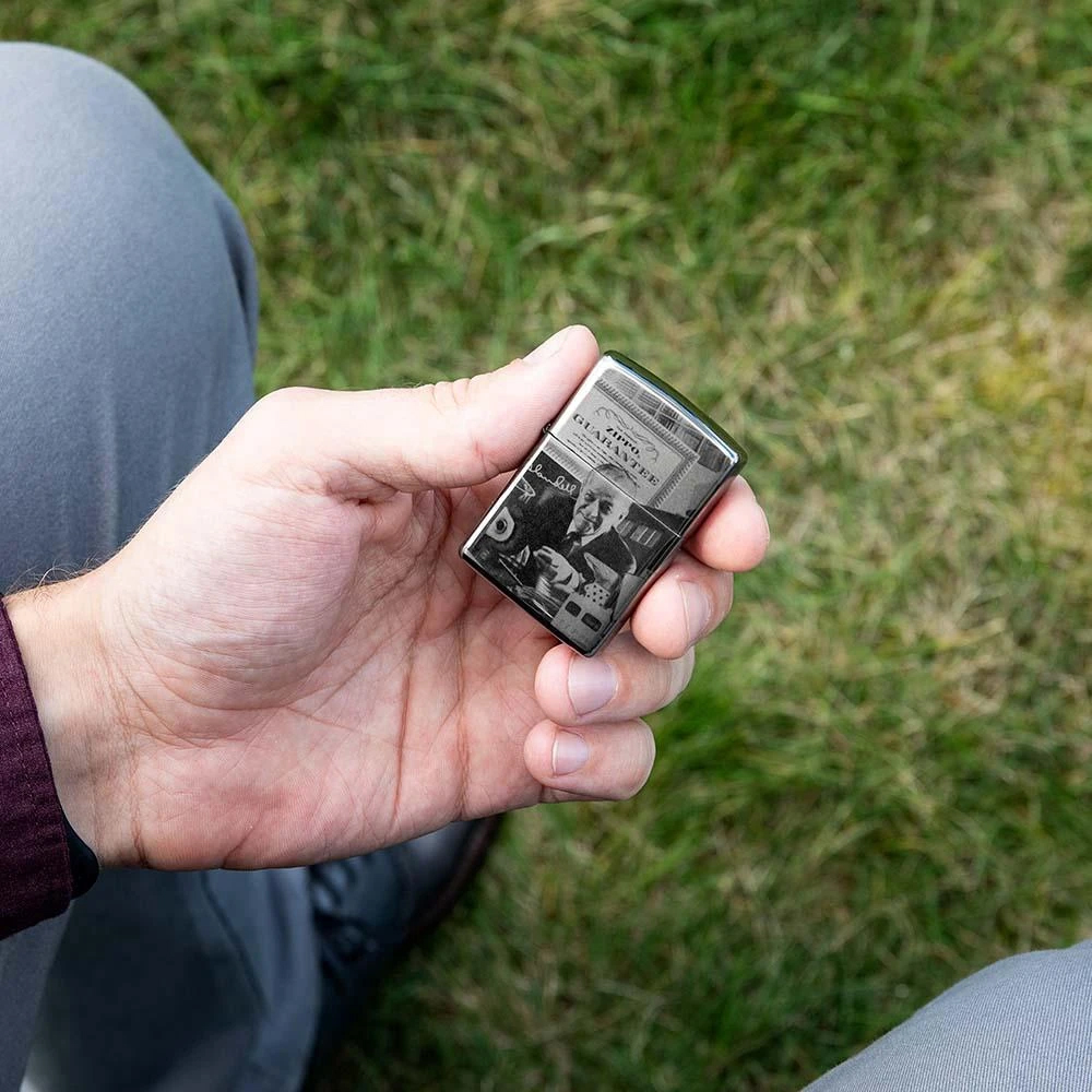 49134 Зажигалка Zippo GGB 125th Birthday Collectible limited edition, Black Ice баннер