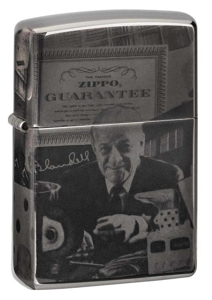 49134 Зажигалка Zippo GGB 125th Birthday Collectible limited edition, Black Ice