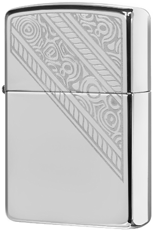 49165 Зажигалка Zippo Lace, High Polish Chrome