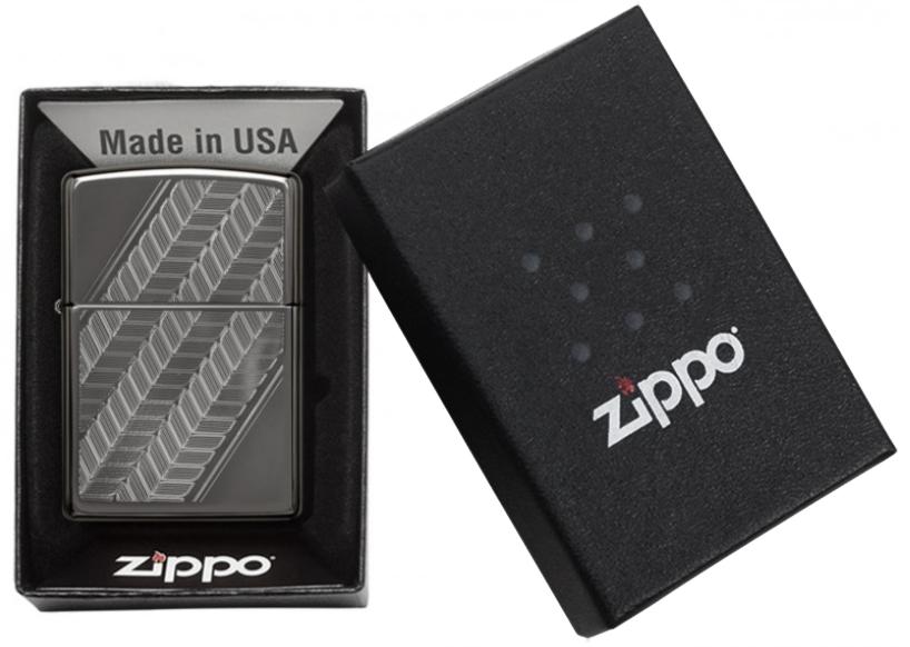 49166 Зажигалка Zippo Abstraction, Black Ice