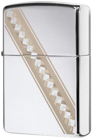 49168 Зажигалка Zippo Ribbon Diamonds, Polish Chrome