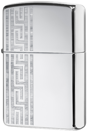 49170 Зажигалка Zippo Greek Pattern, High Polish Chrome