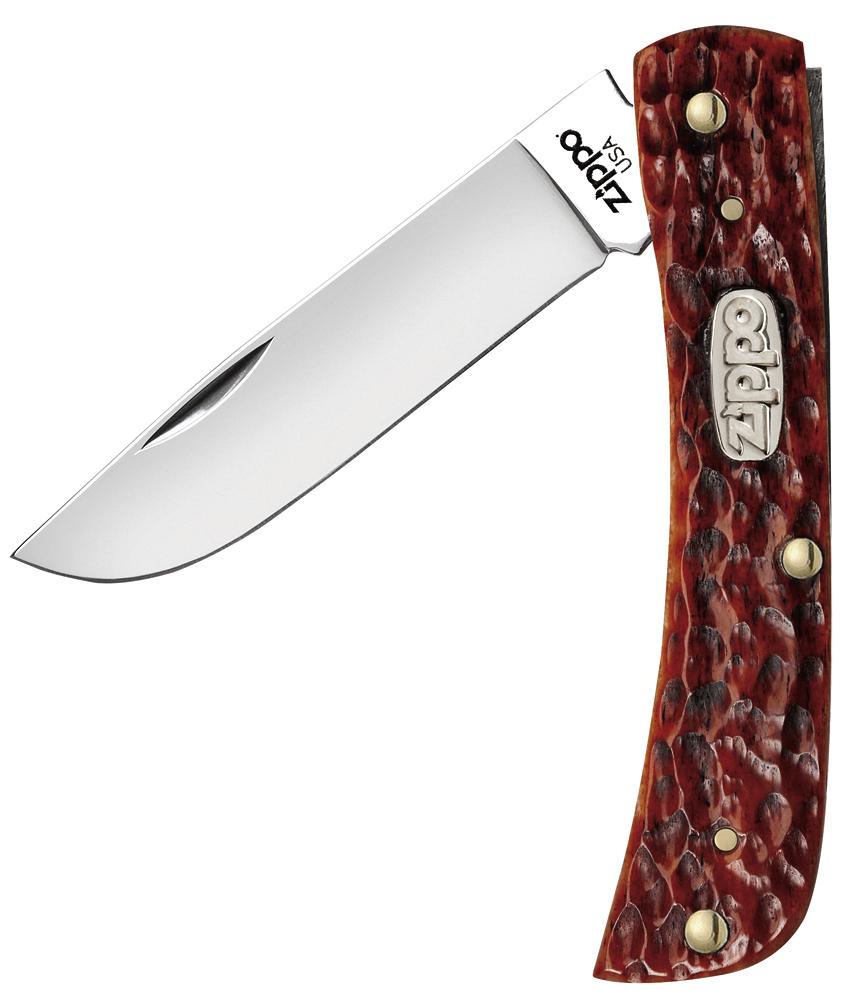 50569 Нож перочинный Zippo Chestnut Bone Standard Jigged Sodbuster Jr., 92 мм, коричневый