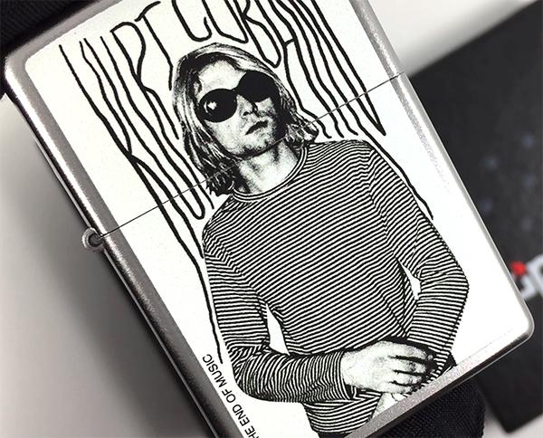 205 Зажигалка Zippo Kurt Cobain, Satin Chrome