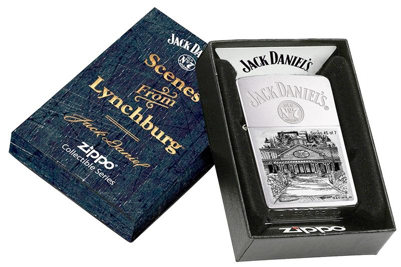 28894 Зажигалка Zippo Jack Daniels Scenes From Lynchburg Series №5, Brushed Chrome