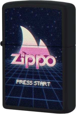 49115 Зажигалка Zippo Gaming Design, Black Matte49115 Зажигалка Zippo Gaming Design, Black Matte