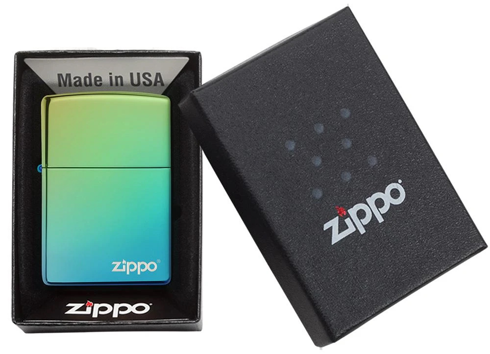 49191ZL Зажигалка Zippo Logo Classic High Polish Teal