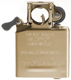 Бензиновый вставной блок Zippo для трубок, сталь, золотистый