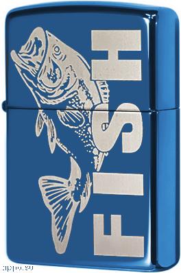 20446 Зажигалка Zippo Fish, Sapphire