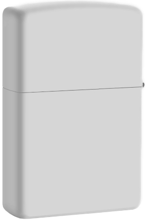 28472 Зажигалка Zippo Classical Curve White Matte