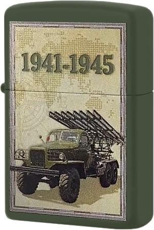 221 Зажигалка Zippo 1941-1945 Katyusha, Green Matte