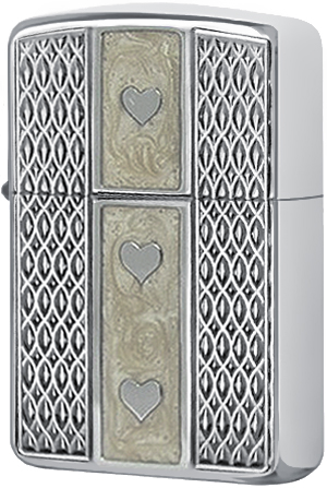 24199 Зажигалка Zippo Armor Heartfelt Triniti, Polish Chrome