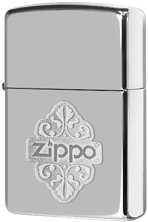 24803 Зажигалка Zippo Filgree, Polish Chrome — zippo.su