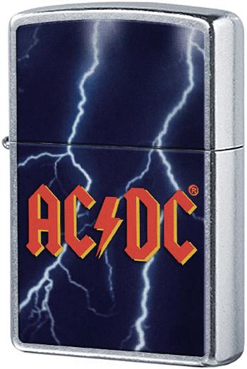 28453 Зажигалка Zippo Lightning AC/DC, Street Chrome — zippo.su