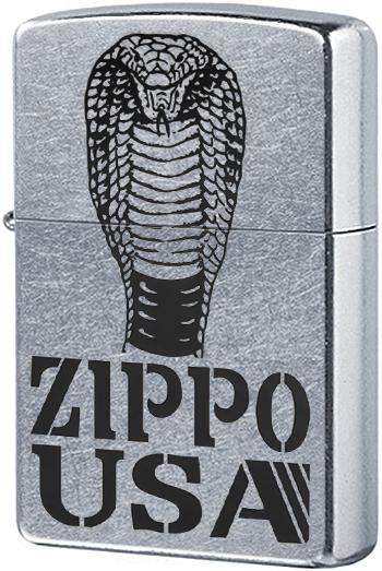 28776 Зажигалка Zippo Cobra, Street Chrome