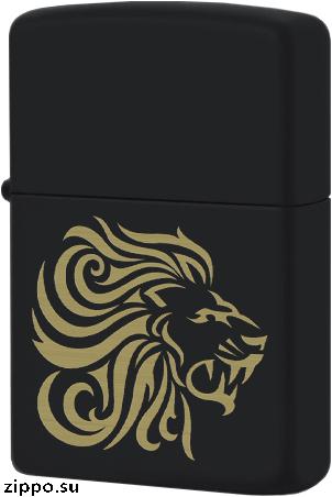 29688 Зажигалка Zippo Lion Head, Black Matte — zippo.su