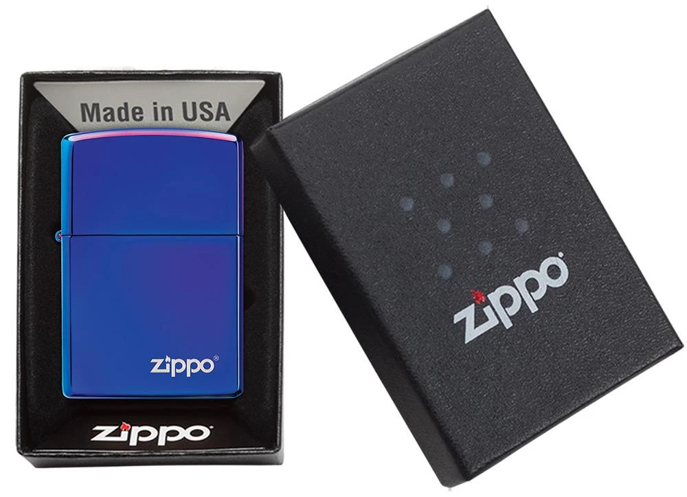 29899ZL Зажигалка Zippo Logo Classic High Polish Indigo