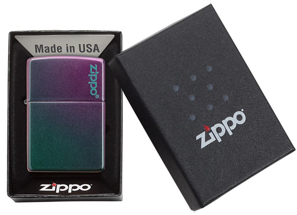 49146ZL Зажигалка Zippo Logo Classic Iridescent