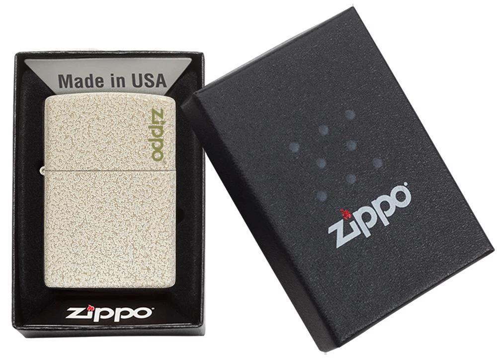 49181ZL Зажигалка Zippo Logo Classic Mercury Glass