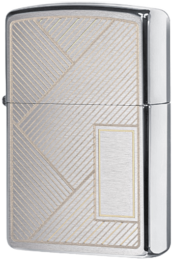 49209 Зажигалка Zippo Diagonal Stripes Design, Brushed Chrome