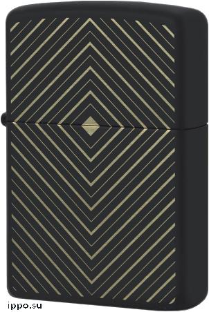 49219 Зажигалка Zippo Abstract Square, Black Matte
