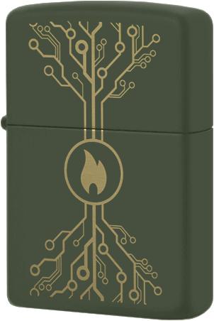 49221 Зажигалка Zippo Tree of Life Wiring Diagram, Green Matte