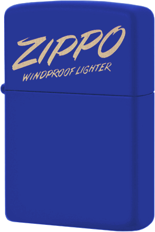 49223 Зажигалка Zippo Logo, Royal Blue Matte