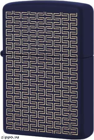 49232 Зажигалка Zippo Square Grid, Navy Matte