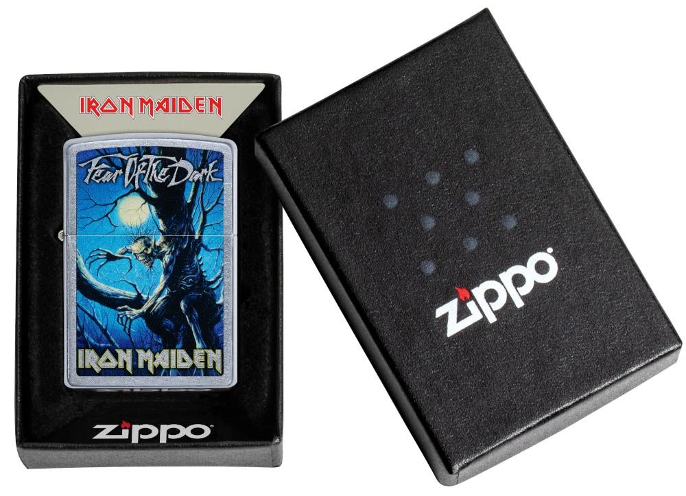 49234 Зажигалка Zippo Iron Maiden Fear of the Dark, Street Chrome — zippo.su