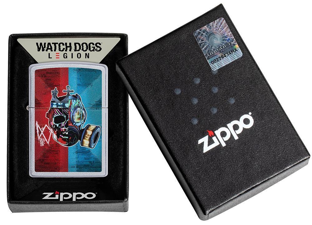 49242 Зажигалка Zippo Ubisoft Watch Dog, Satin Chrome — zippo.su
