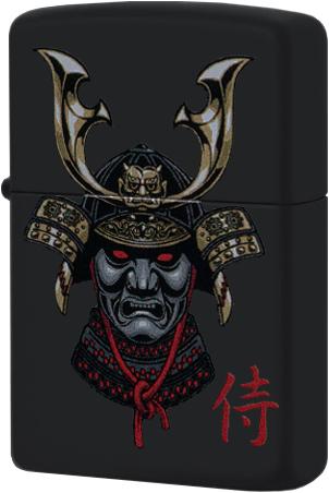 49259 Зажигалка Zippo Samurai in Helmet, Black Matte — zippo.su