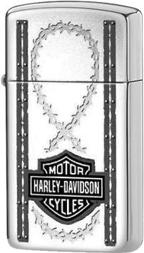 1610 Lady Bikers Зажигалка Zippo Slim Harley-Davidson Barbed Wire, Polish Chrome