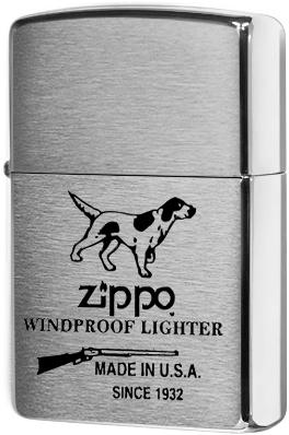 200 Hunting Tools Зажигалка Zippo, Brushed Chrome