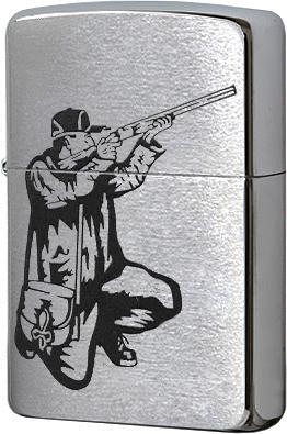 200 Rifle and Hunt Зажигалка Zippo, Brushed Chrome