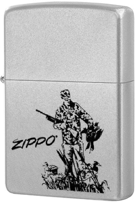 205 Duck Hunting Зажигалка Zippo, Satin Chrome