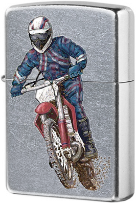 207 Dirt Bike Зажигалка Zippo, Street Chrome