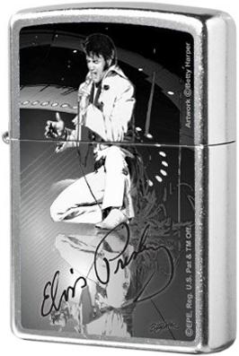 207 Elvis Зажигалка Zippo Betty-Harper, Street Chrome